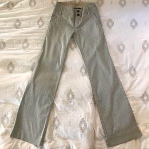 Anthropologie Wide-leg Seersucker Pants
